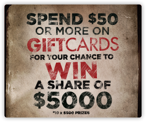 AU Gift Cards - Competition 2015