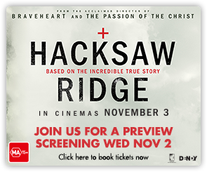 AU Hacksaw Ridge preview screening