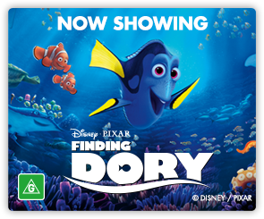 AU Finding Dory - Now Showing