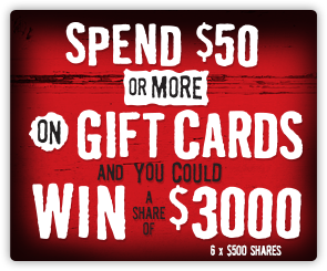 NZ Gift Card Competition