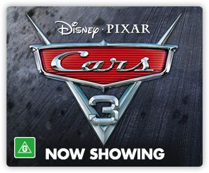 AU Cars 3 - Now Showing