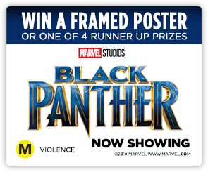 NZ Black Panther Framed Art SIDE